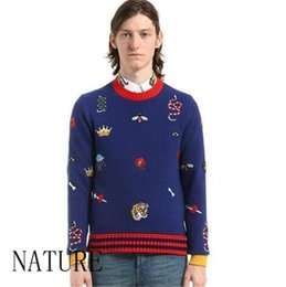 Wholesale Double Knitting Wool - Men's sweaters 2colors highg quality men sweater clothes for size m-3XL 2017 new designer style fashion Luxury clothes