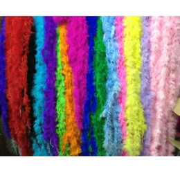 Wholesale Decor Party Supply - 10pcs lot 2 meter Feather Strip Wedding Marabou Feather Boa Party Supplies Accessories Decor Event Gift