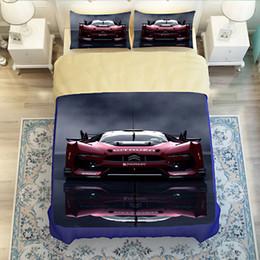 Wholesale Housse Couette 3d - 3-4 piece) 3d race car bedding set bed sheet set twin full queen king size Bedclothes Set housse de couette cars quilt cover