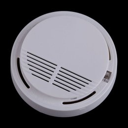 Wholesale Cordless Fire Alarms - wholesale High Quality Fire Alarm System Home Security Fire Sounds Early Warning Photoelectric Cordless Smoke Detector monitoring