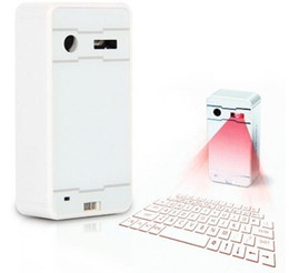 Wholesale Laser Virtual Keyboard Android - 50PCS Mini Wireless Laser Projection Keyboard Portable Virtual Bluetooth Laser Keyboard with Mouse Function for Android iPhone Tablet Laptop