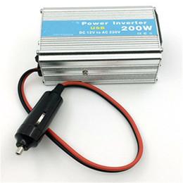 Wholesale Car 12v Usb Adaptor - Wholesale- New 1pcs 12V DC to AC 220V Car Auto Power Inverter Converter Adapter Adaptor 200W USB Car styling