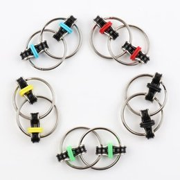 Wholesale Keychain Ring Release - New Key Ring Bike Chain Keychain Metal Toy Fidget Spinner Professional EDC Stress Release For Autism and ADHD Rotation Time Long Anti Stress