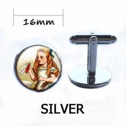 Wholesale Glass Tale - Fairy Tale Cufflinks Sliver Fairies Charm Fairy Tale Glass Dome Art Jewelry Sliver Pendant Glass Pendants Christmas Gift