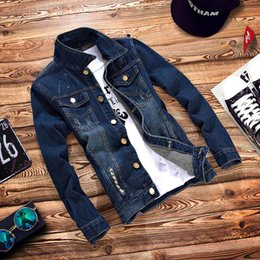 Wholesale Teenage Coats - Wholesale- T china cheap wholesale 2016 new Spring autumn male denim jacket boys denim coat teenage casual slim outerwear men's clothing