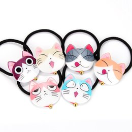 Wholesale Leather Hat Bands Wholesale - New Arrive Korean Cartoon Hats Face Hair Rubber Bands Hair Jewelry Free Shipping Children Party Hair Accessories 346