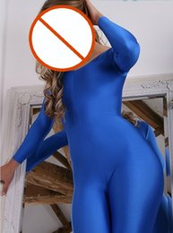 Wholesale Sex Spandex Suits - Bdsm sex toys Free Shipping NEW Zentai Full Body Lycra Spandex Suit Catsuit Fancy Dress Party Halloween Costumes for Women Adult