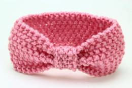 Wholesale Baby Hair Headband Winter - Crochet Knotted Headband Earwarmer Knot Hair Band Turban Knitted Winter Warm Headband Baby Girl Hair Accessory 24pcs lot