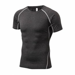 Wholesale Active Base - New Base Layer Camouflage T Shirt Fitness Tights Quick Dry Camo T Shirts Tops & Tees Crossfit Compression Shirt