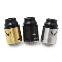 tasa de oro Rebajas Top Rated The Sceptre RDA Atomizer SS Black Gold 18650 Tanque 24 MM Aisladores Peek Fit 510 E Mods de cigarrillos sin DHL