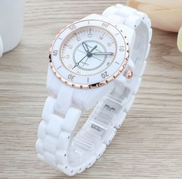 Wholesale Ladies Water Proof - Ladies ceramic watch stem-winder luxury gold fashion water proof Christmas present 2017 new style