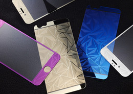 Wholesale Iphone Pattern Glass - 9H Tempered Glass Film Screen Protector 3D Diamond Relief Pattern Color membrane For iPhone7 7plus 6s iphone 5s Front and Back