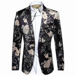 2017 New Men Blazer Suit Fashion Slim Fit 3D Print Casual Business Dress