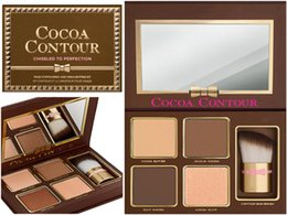 Wholesale Eyeshadow Palette Nude - New Makeup COCOA Contour Highlighters Palette Nude Color Face Concealer Chocolate Eyeshadow with Contour Buki Brush DHL Shipping