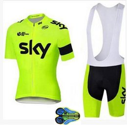 Wholesale Sky Jersey Bibs - 2017 Hot sale SKY Team Men's Cycling Jerseys Set, Summer Bicycle Clothing Men Bicycle Clothing Bike Clothes Bike Jersey+Bib Shorts ciclismo