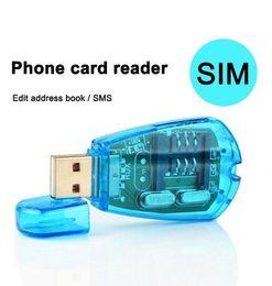Wholesale Cdma Reader - USB SIM Card Reader GSM CDMA Cellphone SMS Backup Sim card reader writer clone backup kit