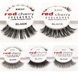 eyelashes wispies Coupons - 15 styles RED CHERRY False Eyelashes Natural Long Eye Lashes Extension Makeup Professional Faux Eyelash Winged Fake Lashes Wispies