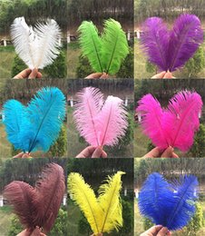 Wholesale Light Blue Ostrich Plumes - wholesale Ostrich Feathers Plume Centerpiece for Table Decoration 6-8 inch 15-20cm Brand New Good Quality