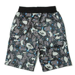 Wholesale Mens Cotton Camouflage Pants - Mens Summer Shorts Galaxy Ape pants camouflage printed Shark Jaw Hip Hop pants Casual trousers M-2XL