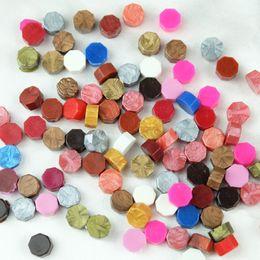 Wholesale- Hot Sale!100 PCS set Multicolor Stamps Sealing Wax granule In bulk Multifunction Documents Stamp supplies