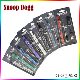 Wholesale Ecig Blister Kits - Snoop Dogg Blister Kits Dry Herb Vaporizer Wax Herbal Atomizer E Cigarettes Ecig 650mah Battery Herbal Vape Blue Starter Kits