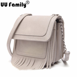 Wholesale Gusset Bags - Wholesale-UU Family 2016 Autumn Gusset Style Bag with Large Capacity Women Tassel Bag Flap Crossbody Shoulder Strap Bolsa Viaje Cartable