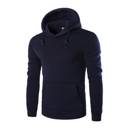 Wholesale Xxl Six - Wholesale-Fashion 2016 Cotton Long-Sleeved Hoodies Men Casual Sportswear Male Hooded Sweatshirt Six Colors Slim Fit Tracksuit M-XXL