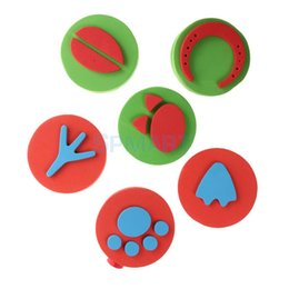 Wholesale Different Stamps - Wholesale- 6 Different Pattern Children EVA Stamps Stamper Paint Stamps Kids EVA Toys