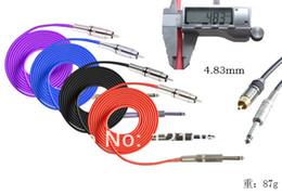 Wholesale Audio Power Line - Wholesale-2.4m 8ft high quality tattoo power supply RCA Audio Plug Silicone Tattoo Machine Plug Clip Cord Power Line Tattoo Supplies