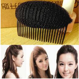 Wholesale Beauty Braids - Wholesale- 2016 Women Vogue Hair Styling Clip Stick Bun Maker Braid Tool Black Beauty Chignon Weave Comb Hair Accessories Quality S L Size