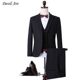 Wholesale Tailor Made Free Shipping - Wholesale- DHL Free Shipping Wool Gray Herringbone Retro Gentleman Style Custom Made Men's Suits Tailor Suit Blazer Suits For Men 3 Piece