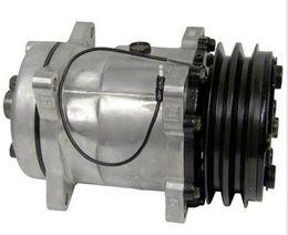 Wholesale Auto Air Condition Compressor - High quality auto air conditioning compressor Sanden SD5H14 6631 4513 4471, 4646, 4735 HTO 132mm 2A 12V
