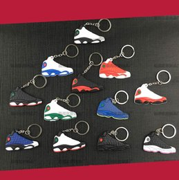 Wholesale Wholesale Shoes Pendant - Keychain Shoes Mold Pendant Basketball Shoes 3D Key Chains nmd Keychain Creative Gift Key Ring K06