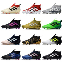 Wholesale Khaki Boots Men - Adidas 2018 ACE 17+ PureControl FG Dragon Best Quality Outdoor Football Shoes ACE Tango 17+ Purecontrol Soccer Boots Football Cleats