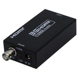 Wholesale Hd Sdi Hdmi Converter - Mini 3G HDMI to SDI Converter Adapter HD To BNC SDI HD-SDI 3G-SDI 1080P Multimedia HD Video Converter Portable Mini Size