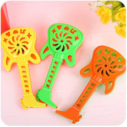 Wholesale Baby S Toys New - Wholesale- New cartoon cute guitar shape bells hand - bells early education educational toys baby rattles children 's toys