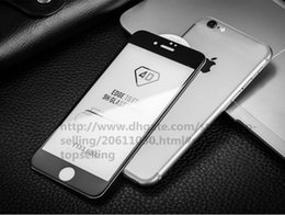 Wholesale 4d Carbon Fiber - Best quality 3D 4D 5D Curved Screen Protector 9H Tempered Glass Carbon Fiber Screen Protector Film For iPhone 8 6 6s 7 Free Shipping