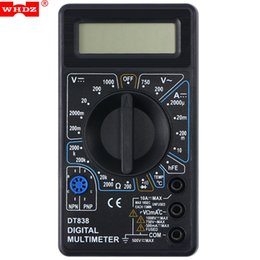 Wholesale Voltmeter Lcd - WHDZ LCD Digital Multimeter AC DC Voltage DC Current Resistance Tester Multimeters Ammeter Voltmeter Ohm Tester Diode Test +B