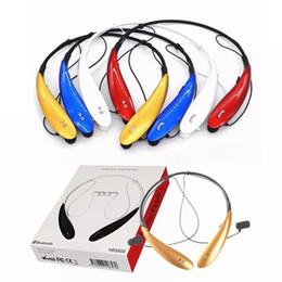 HBS-800 Bluetooth-гарнитуры Наушники Наушники hbs 800 Stereo Wireless Neckbands для iphone 5 6 6s 6Plus без логотипа с розничной коробкой