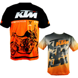 Wholesale Dh Mtb - 2017 Hot sale Men Casual KTM Motorcycle T Shirt Jersey Short Sleeve Airline Jersey Motocross DH Downhill MX MTB Breathable Off-Road