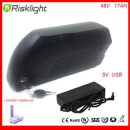 Nouvelle bouteille d'eau E-Bike batterie 48V 17Ah tigre de requin Ebike batterie li-ion pour kit moteur 8fun 48V 750W avec 5V USB pour LG Cell ? partir de fabricateur
