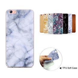 Wholesale Painting Wooden - Ultra Thin Marble Stone Wooden Grain Pattern Soft TPU Cover Painting Design Marbling Wood Texture Case For iPhone X 8 7 6 6S Plus Opp Bag