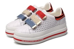 Wholesale Platform School Shoes - Wedge high heels zapatos mujer Platform Heels ladies Genuine leather Shoes chaussure femme women school valentine zapatos Casual Shoes