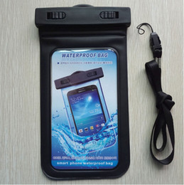Wholesale Neck Strap Cell Phone Case - Dry bag waterproof cell phone case with neck strap PVC waterproof phone bag 5.5 inch phone case for smartphone univeral