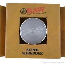 Wholesale Raw Hand - 2017 RAW Grinders Metal Smoking Grinders for Tobacco Match Glass Hand Pipe Hookahs 47mm RAW Colored Package in Stock Father's Day Gift