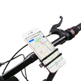 Wholesale S3 Holder Bicycle - Universal Cell Phone Bicycle Handlebar&Motorcycle Holder Cradle with 360 Rotate for iPhone 6s 6 5s 5c 5,Samsung Galaxy S5 S4 S3