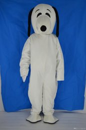 Wholesale 2017 Hot White Plush Snoopy Dog Mascot Costume Cartoon Doll Peanuts Suit Adult Size Good Quality and Cheap Price Fancy Dress Party Free Shi
