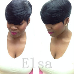 Wholesale Human Full Lace Wigs Sale - African Human Hair Short Lace Front Human Hair Wigs For Black Women Unprocessed Full lace Brazilian Lace front Wig On Sale