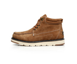 Wholesale Natures Shoes - 2016 Australia Men Beckham Snow Boot For Men Lace-Up Winter Warm Shoes Real Sheepskin Leather Nature Wool Short Boots