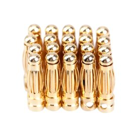 Wholesale Helicopter Bullet - 20 Pairs 3mm Bullet Banana Plug Connector for RC Battery Gold Plated